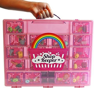 Shop keeper Pink Storage Container and Carrying Case - Compatible with Shopkins