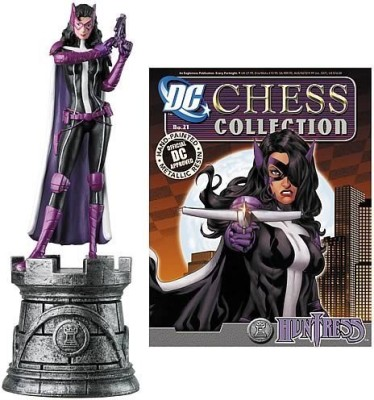 Eaglemoss Publications Batman Huntress White Rook Chess Piece With Magazine