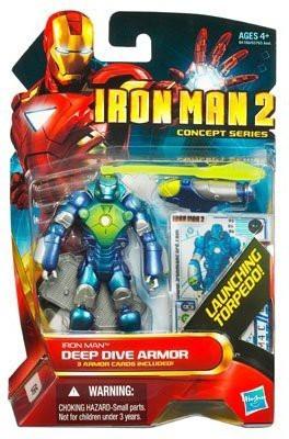 Hasbro Iron Man 2 Movie Concept Series 4 Inch Action Figure Iron Man Deep Dive Armor