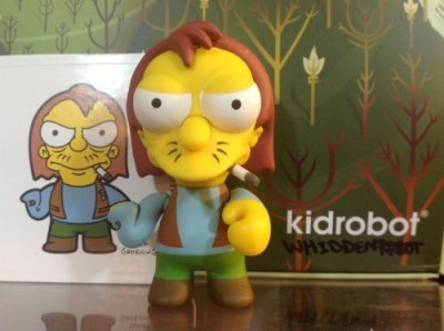 Simpsons series 2 Kidrobot Herman New W/Box Foil & Card(Multicolor)