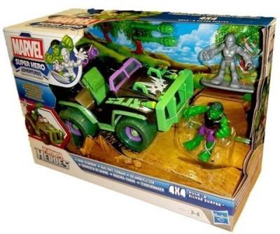 Playskool Heroes Mudstormin, 4X4 With Hulk And Silver Surfer Vehicle
