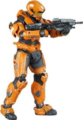 Halo Reach Mcfarlaneseries 3 Exclusive Rust Orange Spartan Jfo