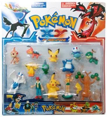 Gadget Bucket Set Of 13 Pokemon Action Figures