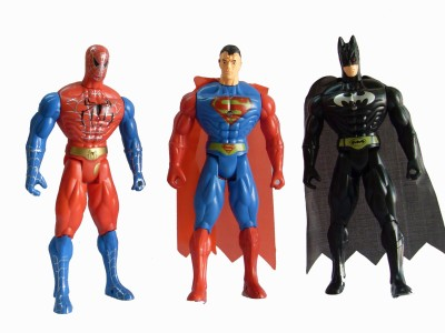 AYAANGLOBALMART ACTION FIGURES COMBO WITH LIGHT ( 22 CM EACH)