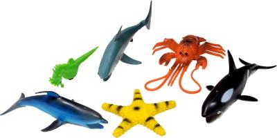 A2B Ocean Animal Plastic Toys Set-6 For Children