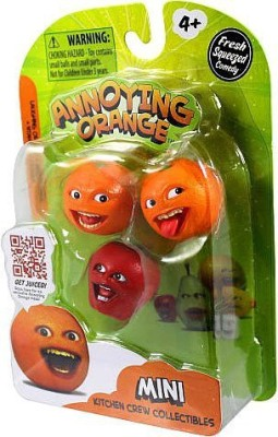 Annoying Orange Kitchen Crew Collectibles Mini 3Pack Laughing Orangemidget