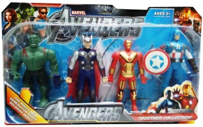 Turban Toys Avengers Collectible 4 In 1 Action Figure Set