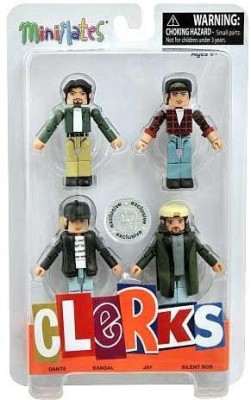 Walking Dead Clerks 20Th Anniversary Minimates Mini 4Pack Clerks 20Th