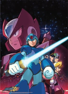 Great Eastern Entertainment Megaman X Crew Wall Scroll33 44Inch