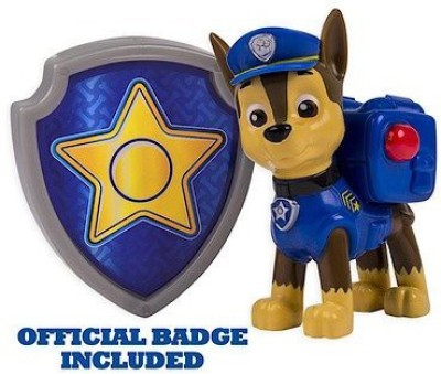 Newborn Nickelodeon, Paw Patrol - Action Pack Pup & Badge - Chase