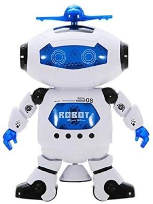 Reyhawk Super Highbrow Creation Naughty Dancing Robot (White, Blue)