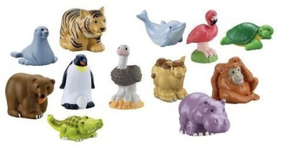 Little People Fisher Price Zoo Animals ~ Set Of 12