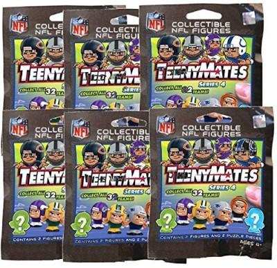 TeenyMates NFL NFL TeenyMates Series 4 Mini-Figures 6-Pack