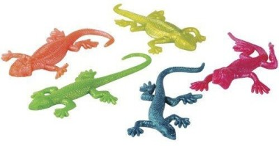 US Toy Stretchy Lizard Toys, 1 Dozen, Assorted Colors