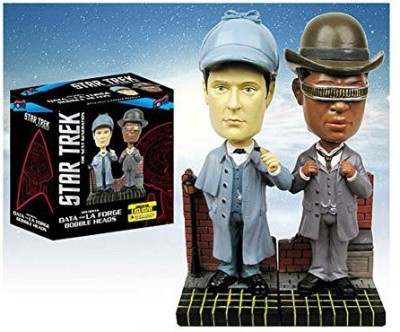 Bif Bang Pow! Star Trek Tng Sherlock Holmes Bobble Headsset Of 2 Excl