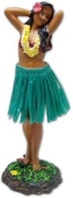 KC Hawaii Hawaiian Dashboard Doll Leilani Girl Posing Green(Multicolor)
