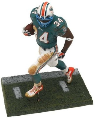 NFL Ricky Williams 2nd Edition #34 Miami Dolphins Green Jersey Blue Teal Face Mask Color McFarlane Action