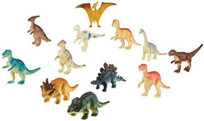 US Toy Assorted Mini Dinosaur Plastic(Lot Of 12)