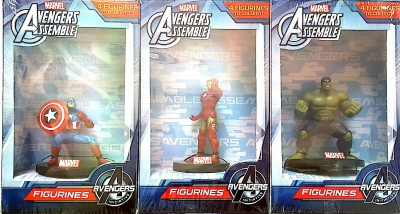 GRV Kreations Captain america,Iron man ,and Hulk in 1 pack figurine