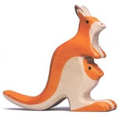 Holztiger Kangaroo With Joey
