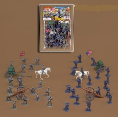 McToy 50 Pc Deluxe Civil War Soldiers Play Set The Union V