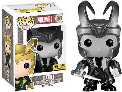 Funko POP! Marvel Black/White Loki With Helmet 36 Hot Topic Exclusive