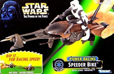 Kenner Star Wars Power Of The Force Power Racing Speeder Bike