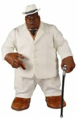 Music Mezco Z Rap Stars Notorious Big (Biggie Smalls) In White