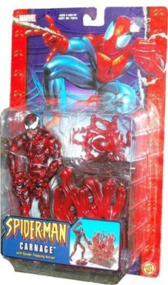 Spiderman Classic Series 6 Inch Tall Carnage With Spider Trapping