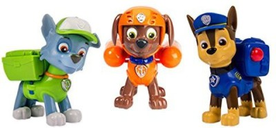 Spin Master Nickelodeon, Paw Patrol - Action Pack Pups 3Pk Figure Set Chase, Rocky, Zuma