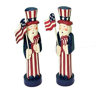 US Toy One Decorative Patriotic Uncle Sam Wood Mini Tabletop Statue