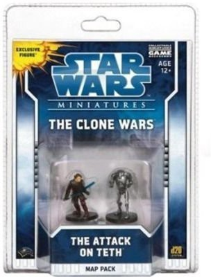 Wizards of the Coast Star Minitaures Clone Wars Scenario Map Pack 1 The Attack On Teth