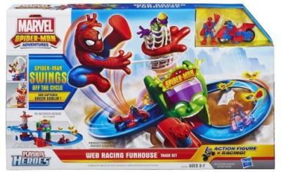 Spiderman Playskool Heroes Marvel Adventures Web Racing Funhouse