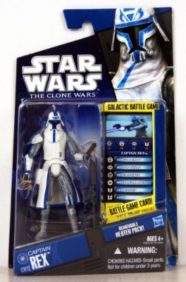 Hasbro Star Wars 2010 Clone Wars Animated Action Figure CW No. 12 Rex in Cold Weathe...