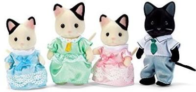 Calico Critters Tuxedo Cat Family(Multicolor)