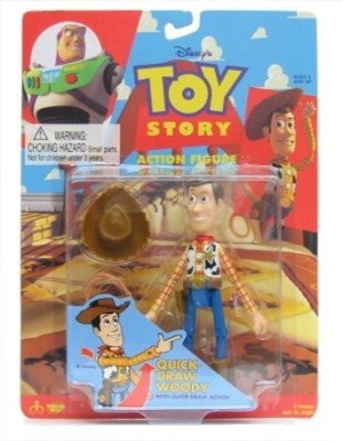 Thinkway Toys Story Quick Draw Woody With Quick Draw