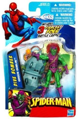 Spiderman 2010 Series One 3 3/4 Inch Dive Bomber Green