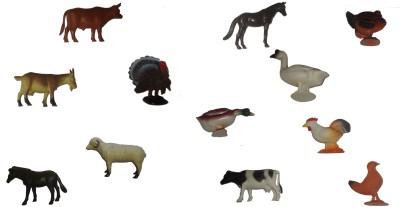 Gift-Tech 12 Piece Farm Animal Attractive Figures