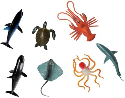 adiEstore Ocean Animals Toy Set - Pack of 7
