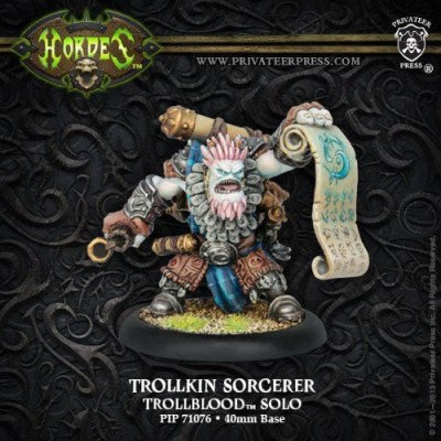 Privateer Press Hordes Trollblood Trollkin Sorcerer Model Kit