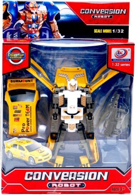 Montez Convertible Robot To Car Yellow