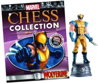 Eaglemoss Publications Marvel Chess & Magazine 3 Wolverine White Knight