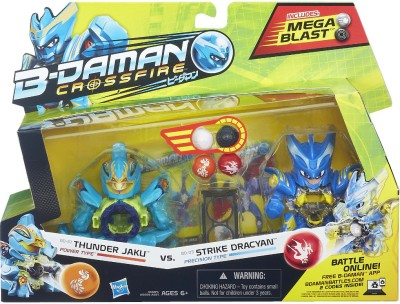 Takaratomy B-Daman Crossfire - Thunder Jaku vs Strike Dracyan