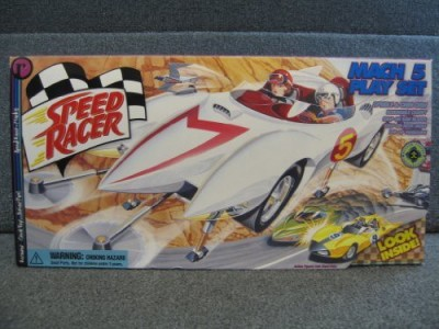 Speed Racer Mach V Playset With Exclusive Spridle & Chim Chim