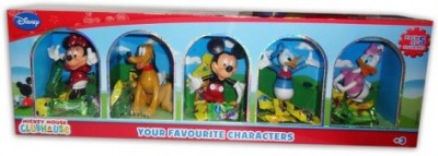 GRV Kreations Disney Mickey Mouse Club House Pack of 5 Figurines (with Free Krrish Figurine)
