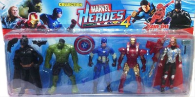 Shop & Shoppee Super Heroes 5 in 1 Figures