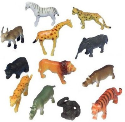 PTC MART Wild Animal 12pcs