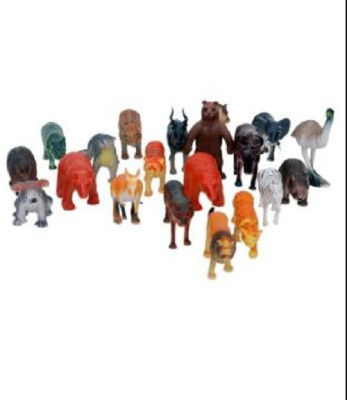HMS Wild Jungle Animals Plastic Toys For Kids ( 20 Pcs. Pack )