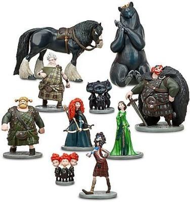 Disney Pixar Brave Deluxe 10 Pc Figurine Set