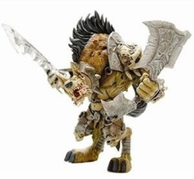 DC COMICS World of Warcraft Series 1: Gnoll Warlord: Gangris Riverpaw Action Figure